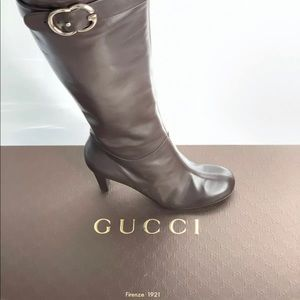 Gucci Sachalin Interlocking GG Logo Knee Boots